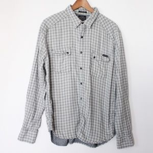 Lucky Brand Mens Twin Cam Western Button Down Top